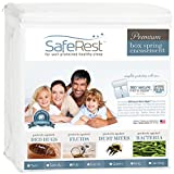 SafeRest Premium Box Spring Encasement - Lab Tested Bed Bug Proof, Dust Mite Proof and Waterproof - Hypoallergenic, Breathable, Noiseless and Vinyl Free - Twin Extra Long (XL)