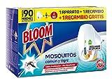 Bloom Insecticida Eléctrico Líquido Mosquitos - Aparato + 2 Recambios, Negro,...