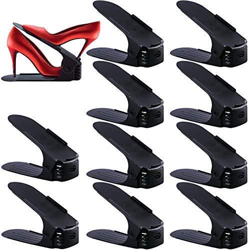 SaiXuan Set de 10pcs Organizadores de Zapatos, Soporte de...
