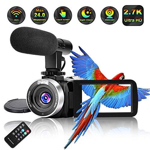 Camcorder Video Camera Full HD 2.7K...