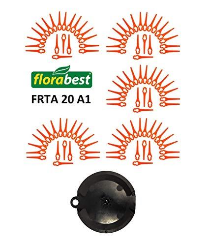 100 lame di ricambio per rasaerba a batteria Florabest FRTA 20 A1, Lidl, IAN 282232