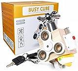 Busy Board Cubes d'Activités pour Bébés Enfants Jouets Montessori 1+ an Planche d'Activités Jouets de Voyage Jouets en Bois Cadeau Jouets Éducatifs pour Bébés