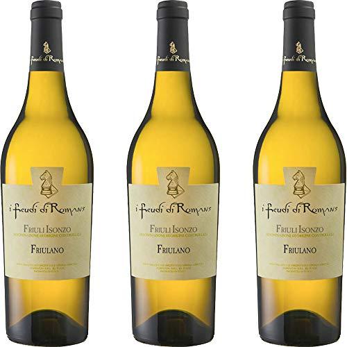 Friulano Doc | Friuli Isonzo | I Feudi di Romans | Vino Bianco del Friuli | 3 Bottiglie 75 Cl | Idea Regalo