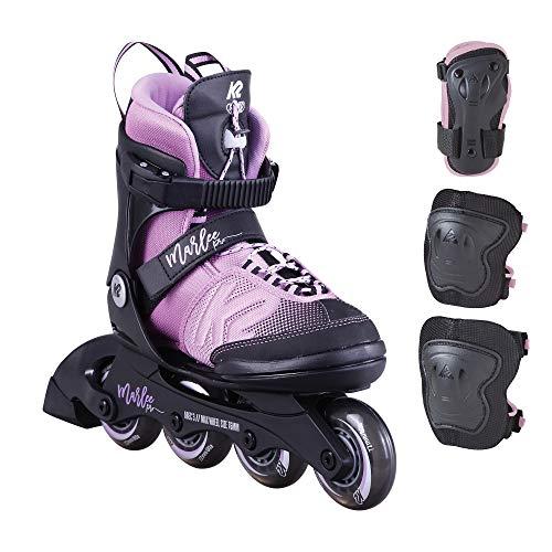 K2 Skates Mädchen Inline Skates MARLEE PRO PACK — black - lavendar — S (EU: 29-34 / UK: 10-1 / US: 11-2) — 30D0235