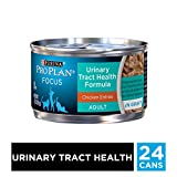 Purina Pro Plan Wet Cat Food, Focus, Adult Urinary Tract Health Formula Chicken Entre, 3-Ounce Can, Pack of 24