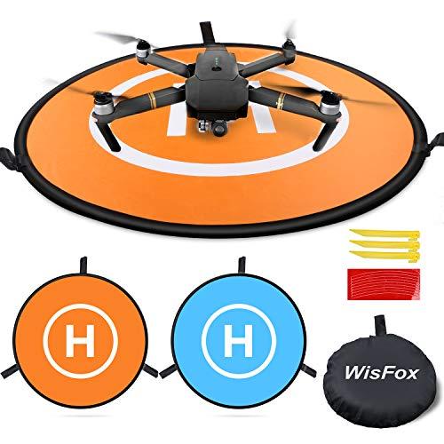 WisFox Drone Landing Pad Impermeabile 75cm Atterraggio Pieghevole Portatile per Elicotteri RC Drone