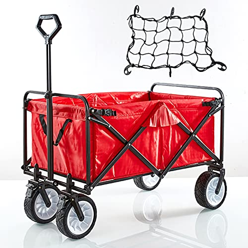 DFFH Folding Beach Wagon Cart Collapsible Outdoor Camping...