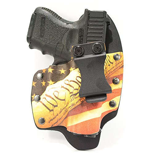 Infused Kydex USA We The People Tan IWB Hybrid Concealed Carry Holster (Right-Hand, Glock 17,19,22,23,25,26,27,28,31,32,34,35,41)