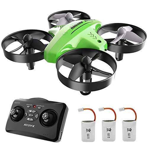 ATOYX Mini Drone per Bambini 66C3 velocit 3D Flip Protezioni a 360 Funzione di Sospensione Altitudine ,modalit Headless ,Miglior Regalo(Verde)