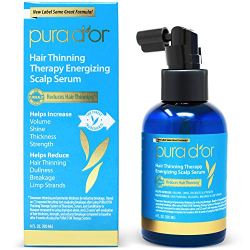 PURA D'OR Hair Thinning Therapy Energizing Scalp Serum Revitalizer...