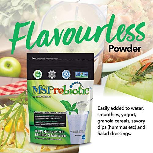 Prebiotic Powder Fiber Supplement: UNFLAVORED Digestive Gut Health Prebiotics by MSPrebiotic. Best Natural Superfood Health Supplements Feed Probiotics for Women, Men. Pre Workout Energy (Gift Box) 4