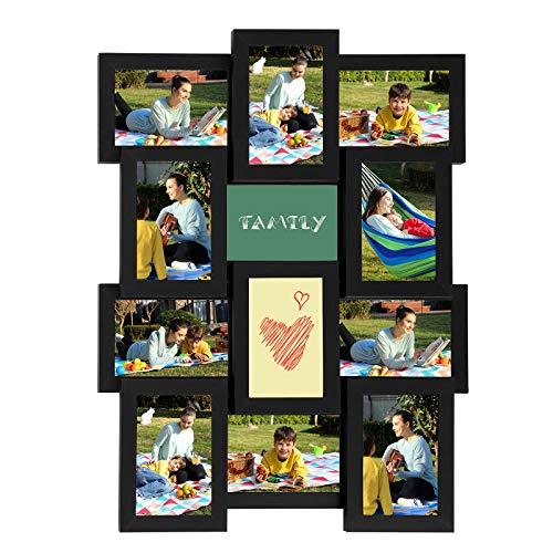 SONGMICS Collage Picture Frames for 12 Photos in 4 x 6 Inches,...