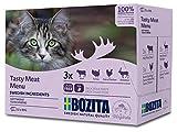 BOZITA Multibox Mixpack Rind, Pute, viel Huhn, Rentier - Häppchen in Soße 12x85g Pouch Portionsbeutel - getreidefreies Nassfutter für erwachsene Katzen