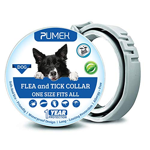PUMEK Dogs Flea and Tick Collar - Flea and Tick Prevention...
