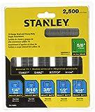 Stanley TRA700BN Heavy-Duty Staple & Brad Assortment, 2500-Pack