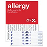AIRx Filters 20x25x2 Air Filter MERV 11 Pleated HVAC AC Furnace Air Filter, Allergy 6-Pack, Made in the USA
