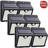 Lampe Solaire Extérieur, [ 6 Pack 150 LED - 1000 lumens] iPosible Lumière...