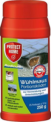 PROTECT HOME Rodicum Wühlmaus Portionsköder (ehem. Bayer Garten Racumin), auslegefertige Köder für Köderboxen mit Wühlmausgift, 250 g