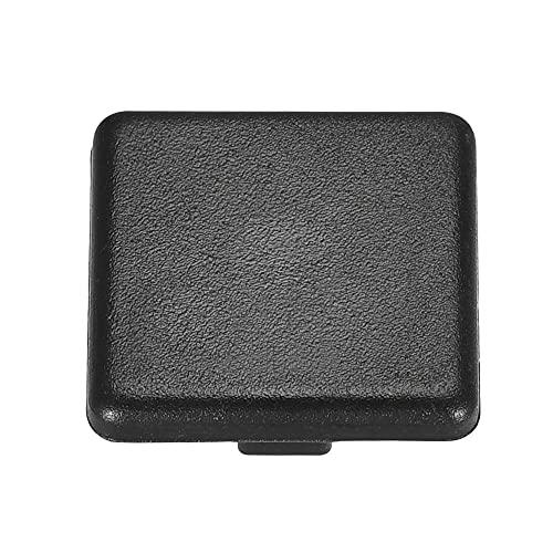 sourcing map Estándar Plástico Cuadrado Aluminio Extrusión Extremo Tapa Negro 40x40mm 5uds