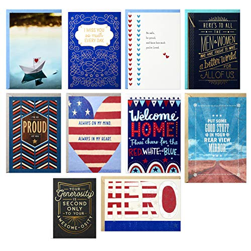 Hallmark American Heroes Thinking of You Card Assortment (10 Cards with Envelopes) (2499RZC1015)