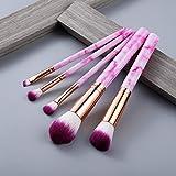 5/15 Piezas Juego de Herramientas de Pinceles de Maquillaje Polvo cosmético Sombra de Ojos Fundación Blush Blending Beauty Make Up Brush Maquiagem - 5 Piezas Rosa