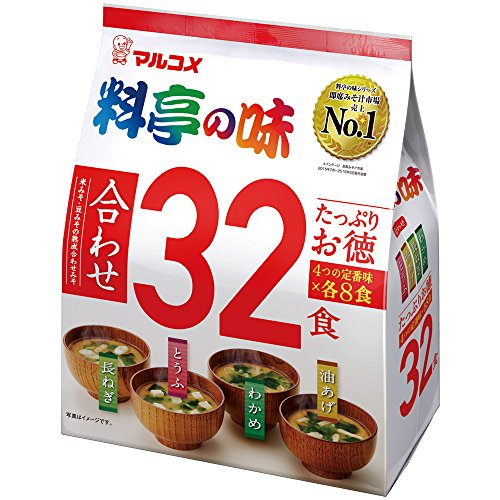 Marukome miso Suppe Soup various miso taste assortment 32 meals