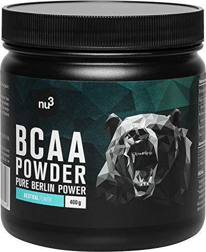 nu3 BCAA en polvo - 400g powder sabor neutral - 40 porciones de...
