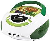 Metronic 477144 Radio Lecteur CD enfant Jungle avec Port USB/SD/AUX-IN - Vert et...
