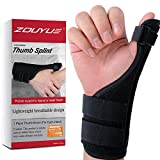 Thumb Brace, Thumb Support with Removable Splint, Finger Splint for Both Hand, Thumb Wrist Stabilizer for Men, Women, Tendinitis, Bowling, Sports Injuries Pain Relief