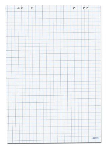 Herlitz - Carta riciclata a quadretti per lavagna a fogli mobili, 68 x 99 cm, confezione da 5 pezzi