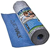 MP Global Products QuietWalk Laminate Flooring Underlayment with Attached Vapor Barrier Offering Superior Sound Reduction Compression Resistant and, Moisture Protection Covers 360 Sq. Ft, Blue