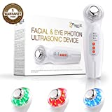 Project E Beauty LED 3 Colors Photo Rejuvenation Therapy | Facial Eye Skin Care Wave Stimulation Anti Aging Lift Firm Tighten Toning Puffy Eyes Winkles Device Massager Machine