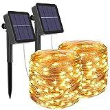 [Lot de 2] Guirlande Lumineuse Exterieur Solaire, Litogo 12m 120 LED...