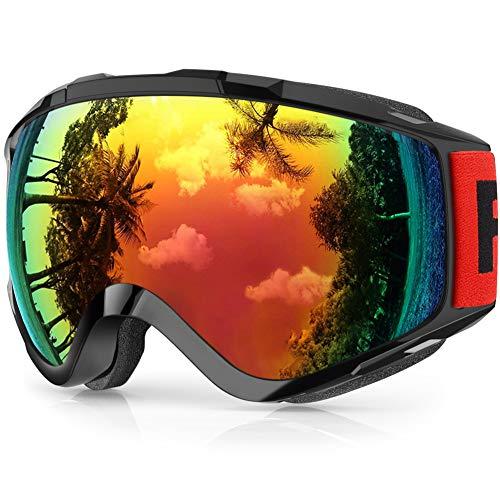 findway Gafas de Esquí,Máscara Gafas Esqui Snowboard Nieve Espejo...