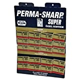 Perma-Sharp Double Edge Safety Razor Blades, 100 Count, (20 packs of 5 blades on a display card)