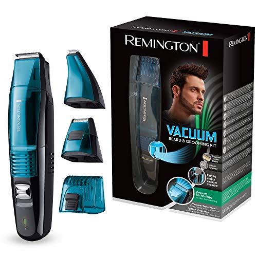 Remington Bartschneider Vakuum MB6550, Vakuum-Technologie für saubere Grooming-Ergebnisse, schwarz/blau