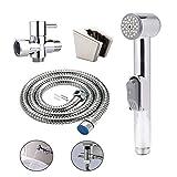 Handheld Bidet Toilet Sprayer Kit Cloth Diaper Spray Portable Shower Bathroom Bidet Attachment with 47inch Stainless Steel Hose T-Valve for Personal Hygiene Feminine Use Pet Washing