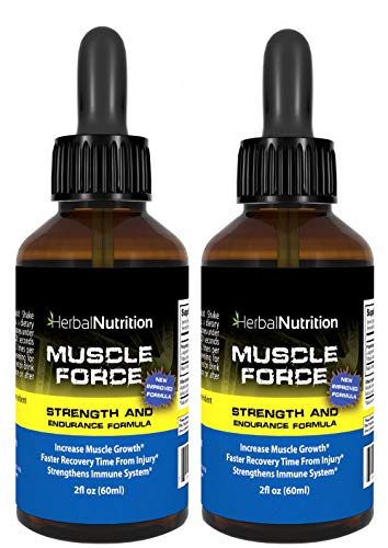 #1 Rated MUSCLE FORCE Strength and Endurance Spray! | Two Bottle Pack! | 200mg Proprietary Growth Formula | Improve Strength and Recovery | 2oz. Spray Bottles | 60 - Day Supply | Free Shipping