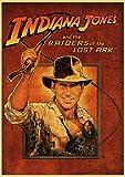 BBSJX Rompecabezas Vintage Película Indiana Jones Rompecabezas para Adultos Rompecabezas De Madera...
