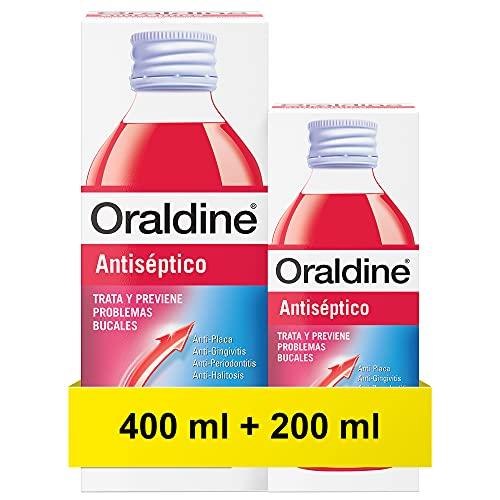 Oraldine Colutorio Antiséptico, 400 Mililitros + 200 MIlilitros