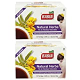 Badia Natural Herbs Slimming Tea - 25 Tea Bags, 0.045 Oz each Bag (2 Pack)