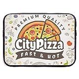 Fondo de Comida de Pizza Menú de Cocina Italiana Bolsas para computadora portátil Tableta de Netbook de 15 ″, maletín con Funda, Funda para Bolso