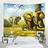 Tapiz de elefante de estilo nórdico INS mandala bohemio hippie decoración de...