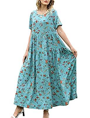 Empire Waist, Tiered Swing Skirt, Side Pockets, Full Length and Casual Loose Style. You would certainly love the way they make you look and feel. These Summer Dresses are made of 100% Cotton. Soft, Comfortable and Airy for Hot Summer and Humid days; ...