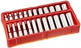 GreatNeck 18622 Metric Socket Set, 1/4 Inch Drive, 24-Piece | Homeowner & Mechanic's Socket Set w/ Tray | Deep & Shallow Sockets, Take on Any Job | Chrome-Vanadium Steel for Guaranteed Durability
