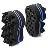 RioRand Hair Sponge Magic Barber Brush Sponge Twist Curl Dreads Locking Afro Coil Comb Care Tool 2PCS
