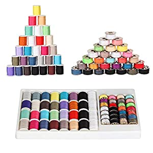 Material: 100% Polyester. 32 Assorted thread spools(33 Yards) and 28 metal prewound bobbins(27 Yards). Standard bobbins, Size A, Class 15. Fit for most sewing machine like Brother, Babylock, Janome, Kenmore, Singer etc. Widely Used for Beginner. Suit...