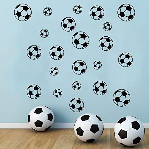 SITAKE 43 Pcs Soccer Stickers, Kids Soccer Ball Stickers Decals for Kids Room, Football Wall Decal Sticker Vinyl Art DIY Sticker for Boys Bedroom Playroom Living Room Window Door Decoration