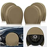 Kohree Tire Covers for RV Wheel, Set of 4 Motorhome Wheel Tire Covers Heavy Duty 600D Oxford for 29'-32' Tires Diameters' Trailer Camper Truck Auto, Snow Sun Tire Protector Waterproof w/ PVC Coating