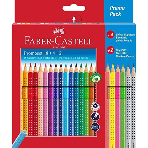 Faber-Castell 201540 - Promotionset Colour Grip 18+4+2